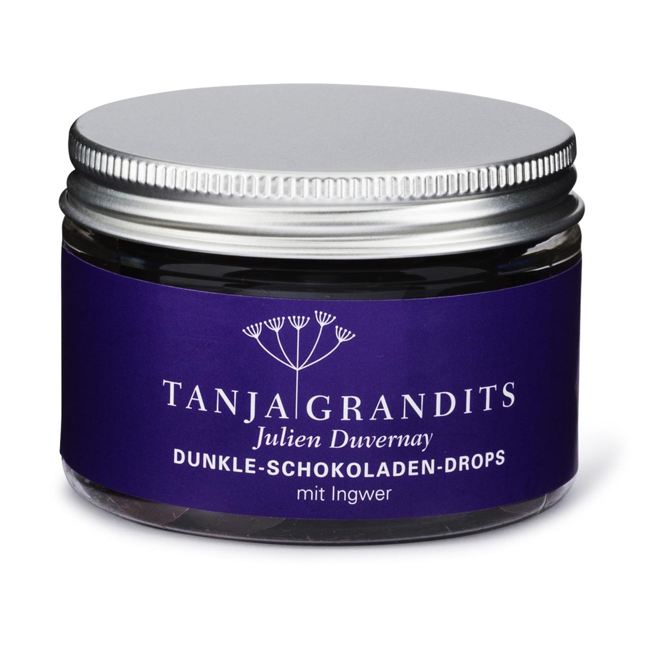Tanja Grandits: Schokoladen Drops Ingwer Dunkle Schokolade 67%